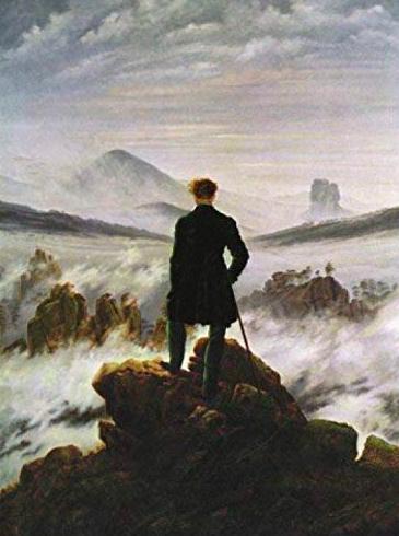 """C.D. Friedrich, """"Il viandante sul mare di nebbia"""""""