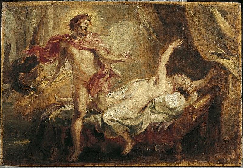 """P.P. Rubens, """"Giove, Semele e la nascita di Bacco"""" (1636-38)"""