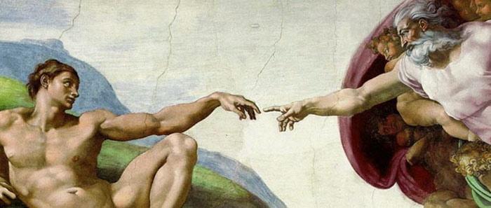 Dio e Adamo, ritratti da Michelangelo