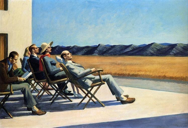 """E. Hopper, """"Gente al sole"""" (1960)"""