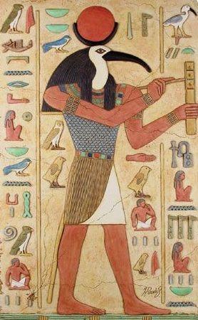 Raffigurazione del dio Theuth