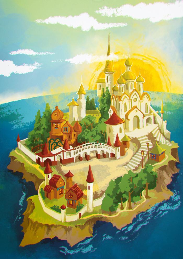 картинки города из сказки о царе салтане ванилью пекарским