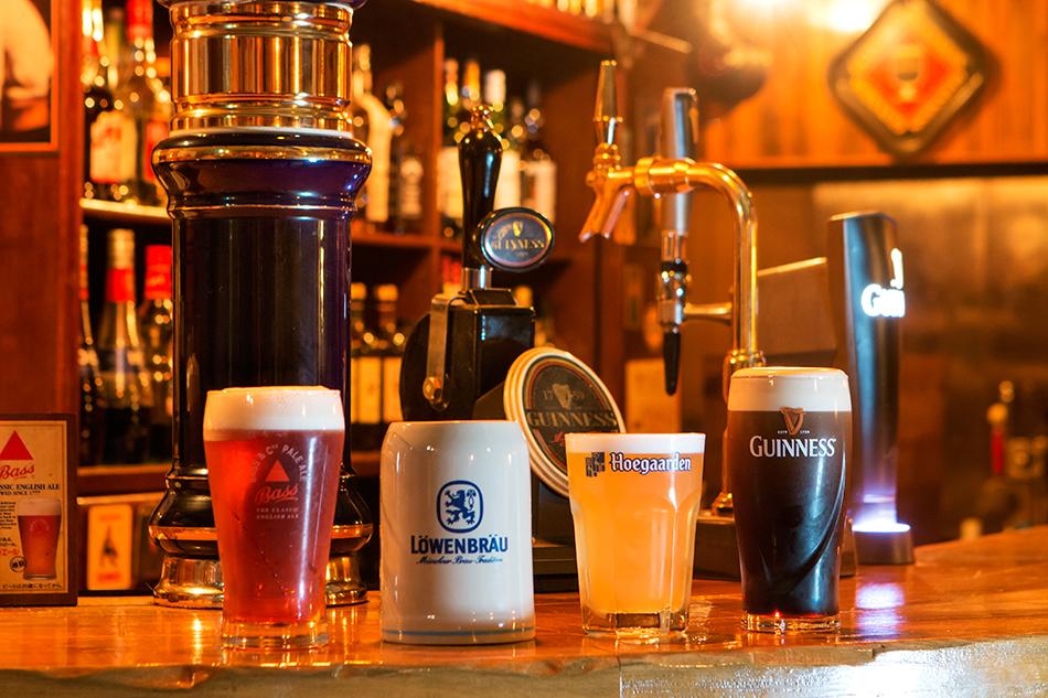 外国のビールも豊富。
