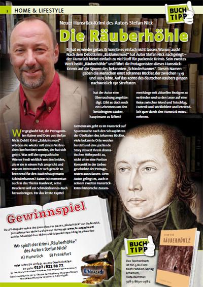 mein tv-magazin, Ausgaben Oktober 2011 Rheinland-Pfalz (Seite 8) und Nordrhein Westfalen (Seite 54)