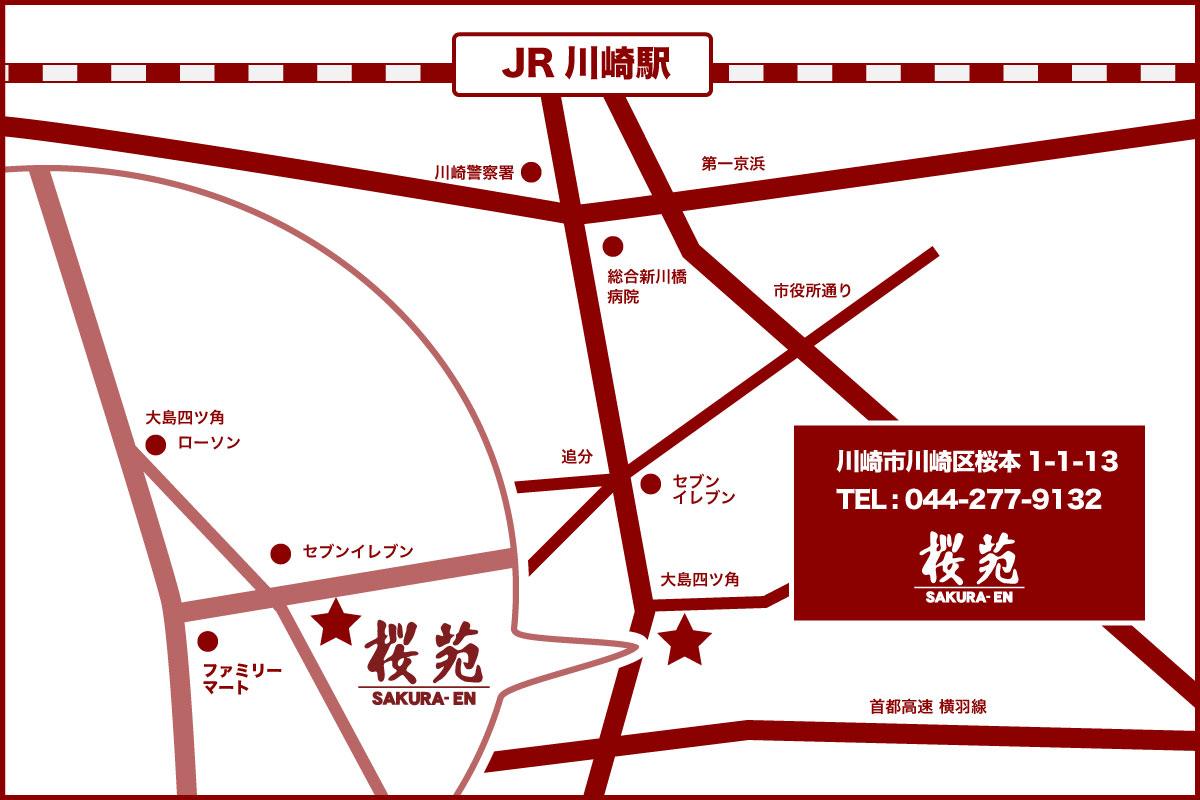 桜苑までの地図