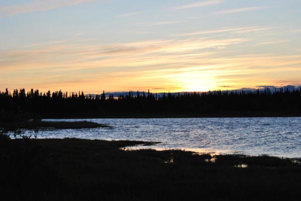 Abendstimmung im Yukon