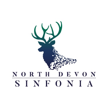 North Devon Sinfonia Festival Logo Design with Text,  White Background, North Devon Logo Designer