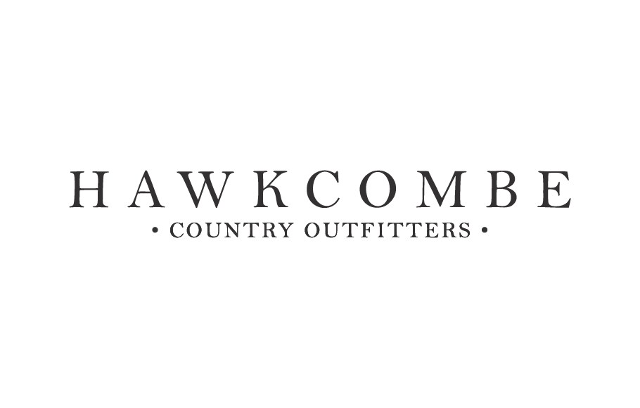 Hawcombe Counrty Outfitters wordmark - using traditional fonts, by Design By Pie, Logo designer, North Devon
