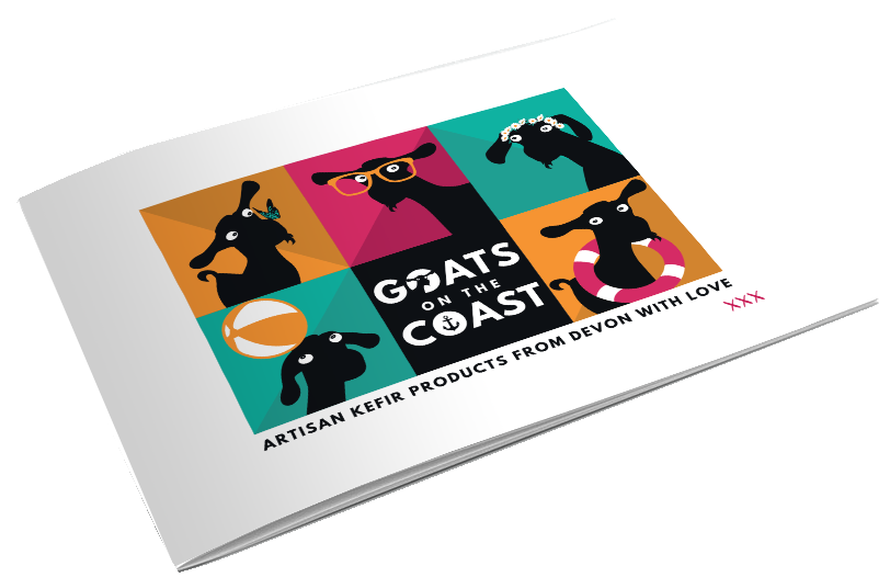 Brochure cover for Goats on the Coast, Design By Pie, Graphic Designer, North Devon