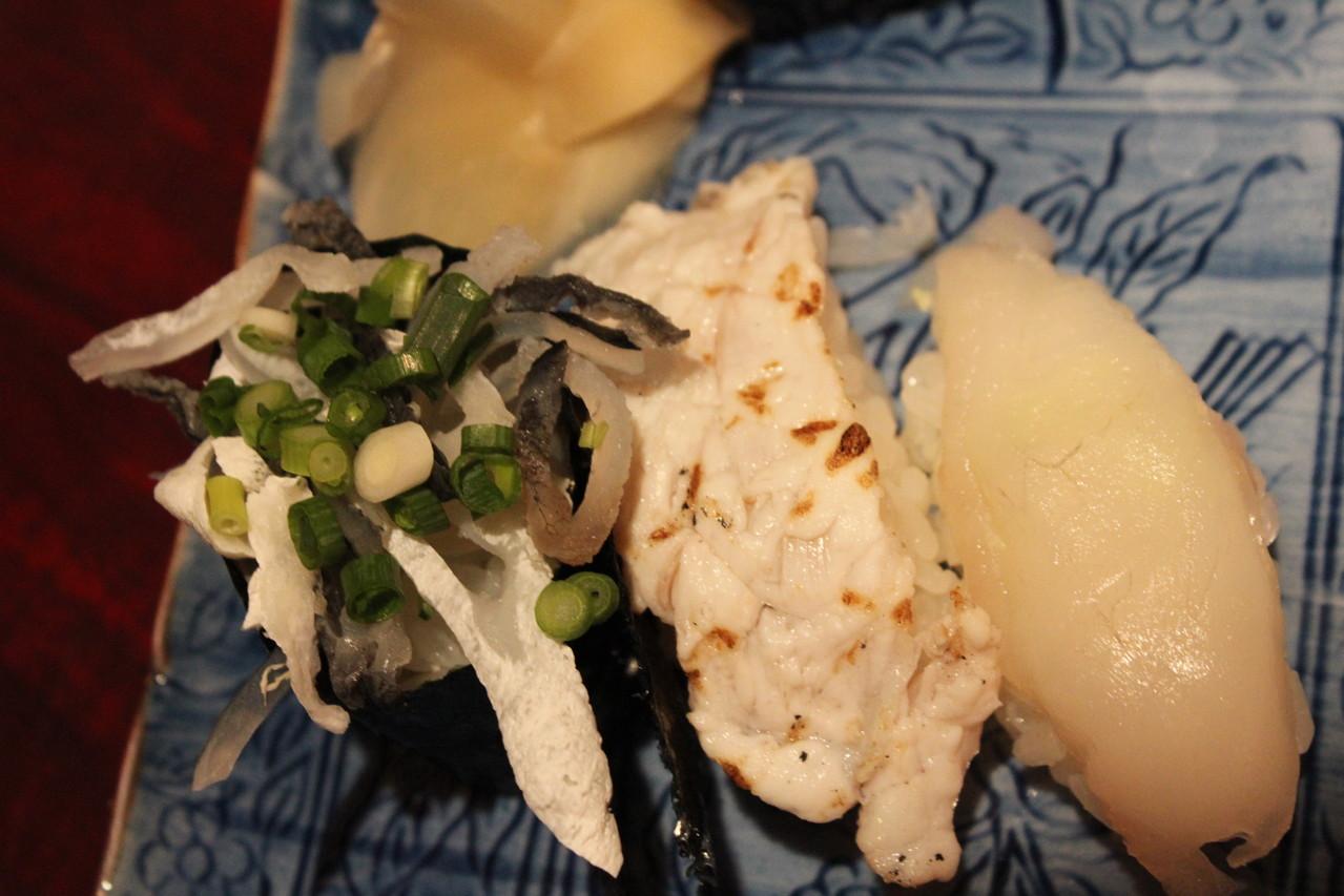 鮨 美浜 天然ふぐ料理セット ふぐのにぎり