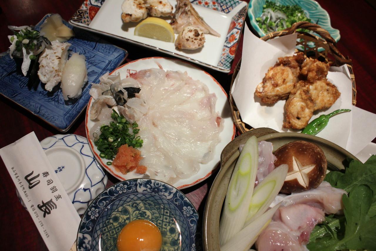 鮨 美浜 天然トラふぐ料理7点セット
