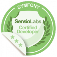 SensioLabs Certified Developer Badge