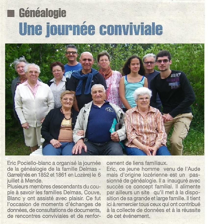 Article paru sur la Lozère Nouvelle du 11/07/2014