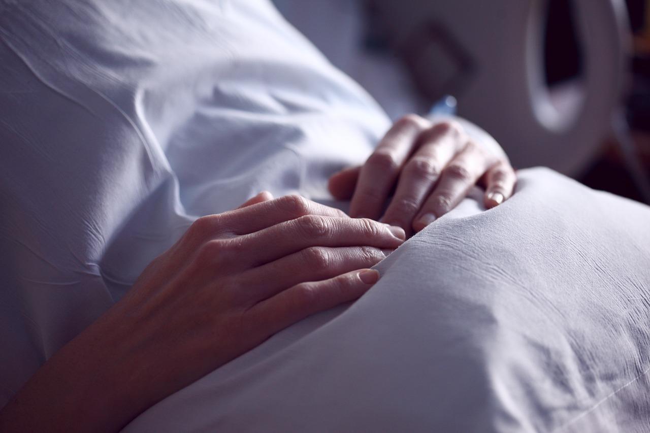 Krebspatient im Krankenhaus in Coronazeiten