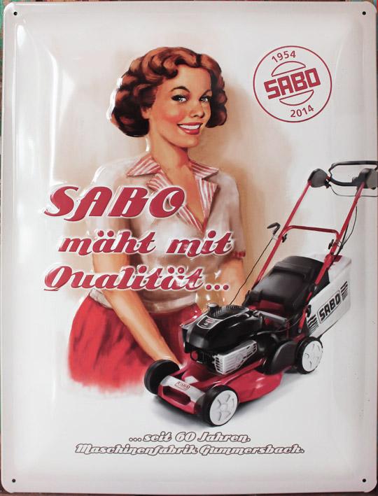"""Illustration für Blechschild """"60 Jahre SABO"""" (Kunde: SABO-Maschinenfabrik GmbH)"""