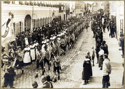"1922 - Patenschaft bei den ""Oberlandler Bad Aibling"""