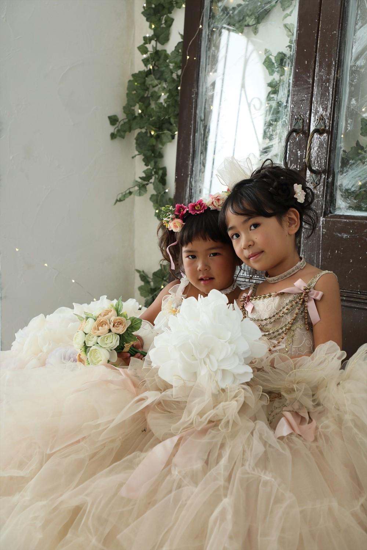 府中市フォトスタジオLaLa7歳3歳七五三姉妹撮影