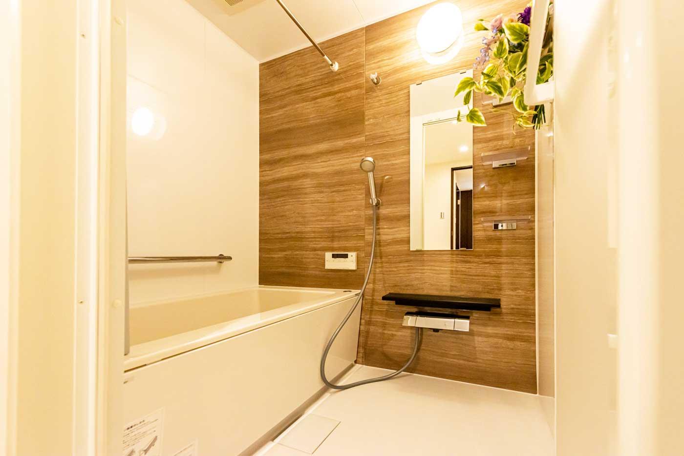 隅々まで美しいバスルーム