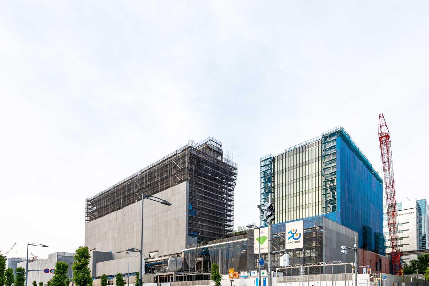 まもなく誕生する新街区の工事現場