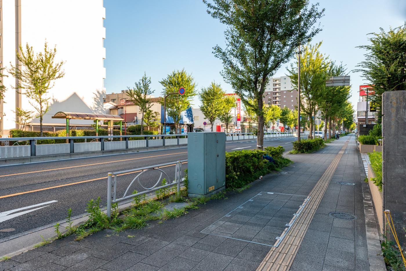 前面道路(水戸街道)