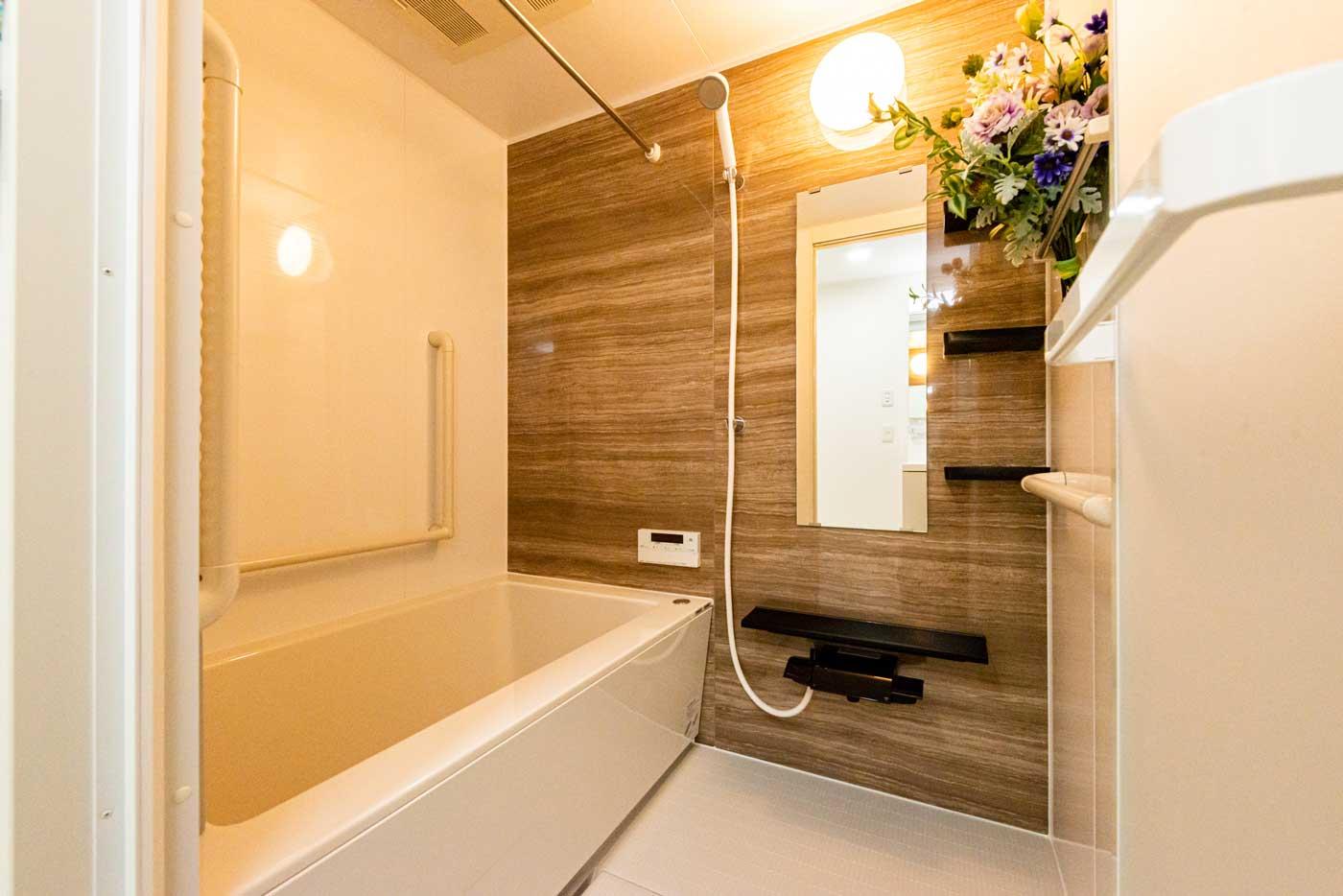 隅々まで美しくなった浴室
