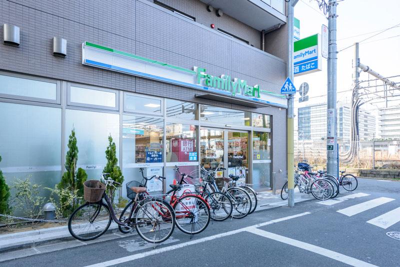 周辺環境1(ファミリーマート中野3丁目店) 400m