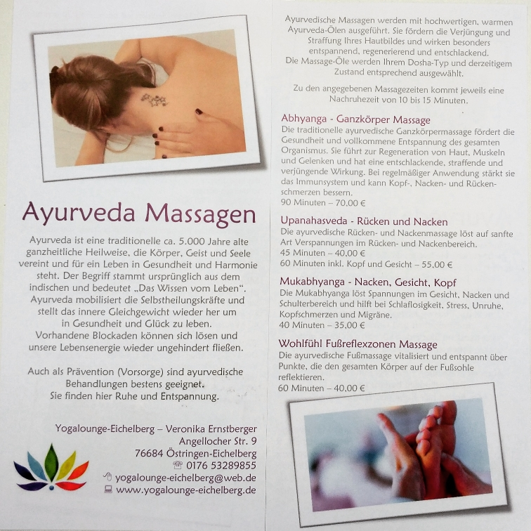 Näheres erfahren ihr unter dem Navigationspunkt Ayurveda-Massagen