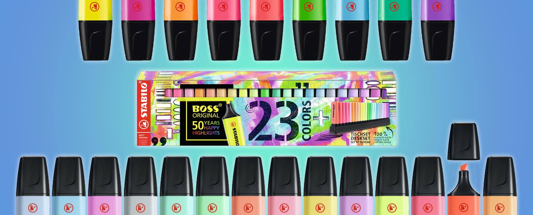 Stabilo Boss Jubiläums-Set à 23 Farben, nur solange Vorrat