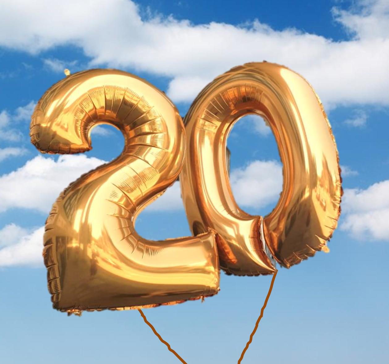 Zahlen-Ballone in gold, silber, blau und pink erhältlich
