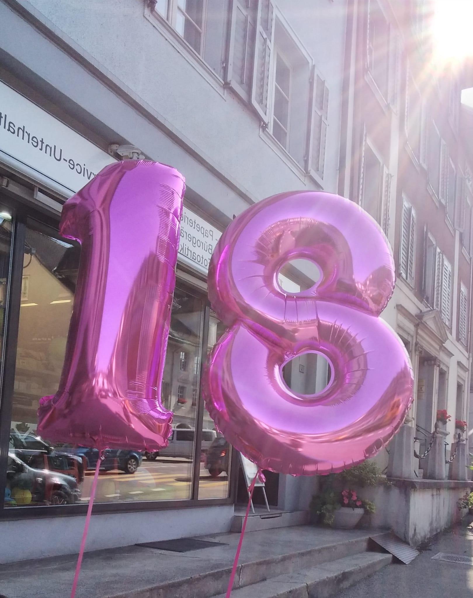 Zahlen-Ballone neu auch in pink und blau erhältlich