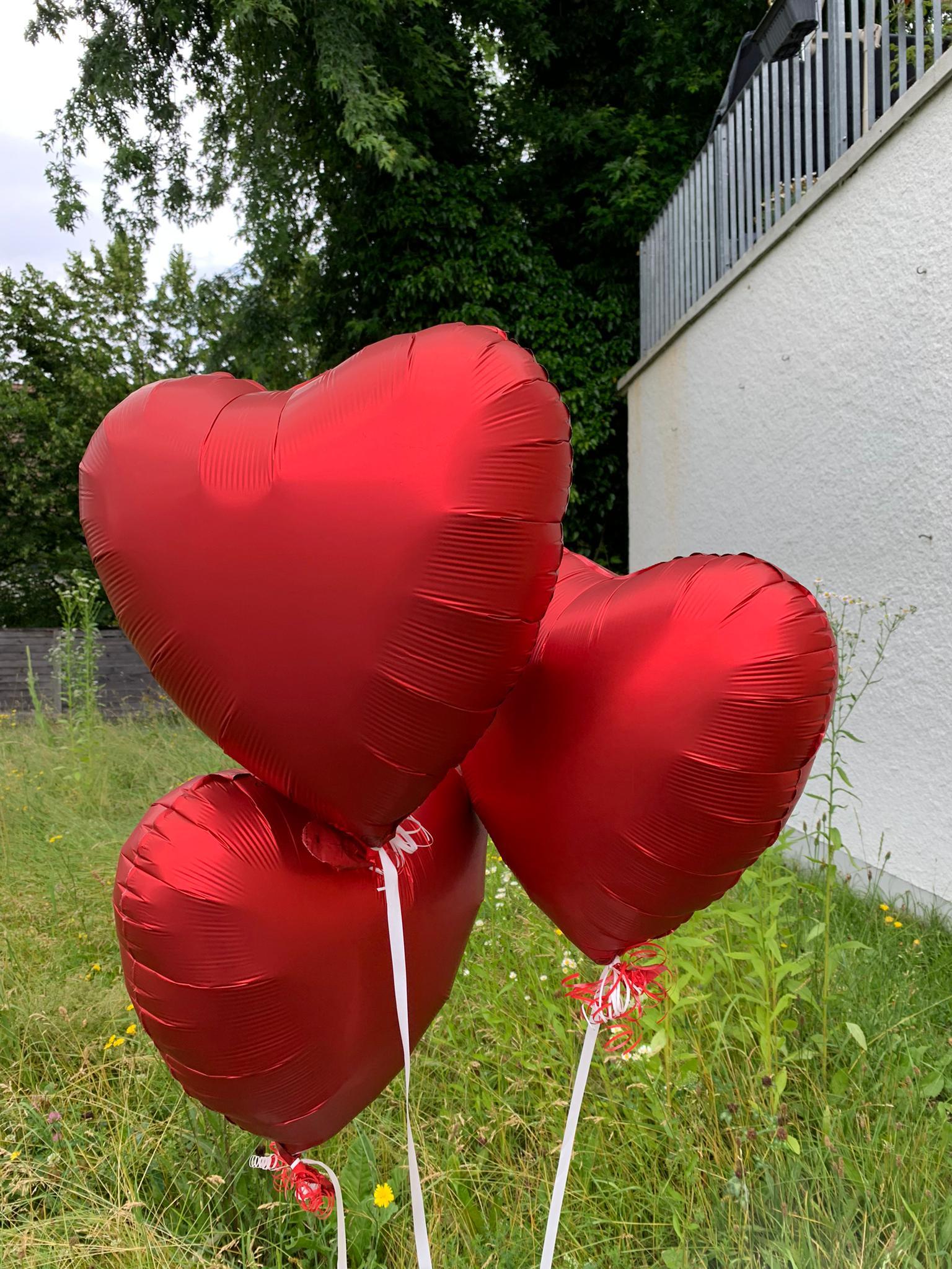 Herzballone für einen speziellen Effekt