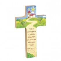 Holzkreuze mit Gebet oder Spruch
