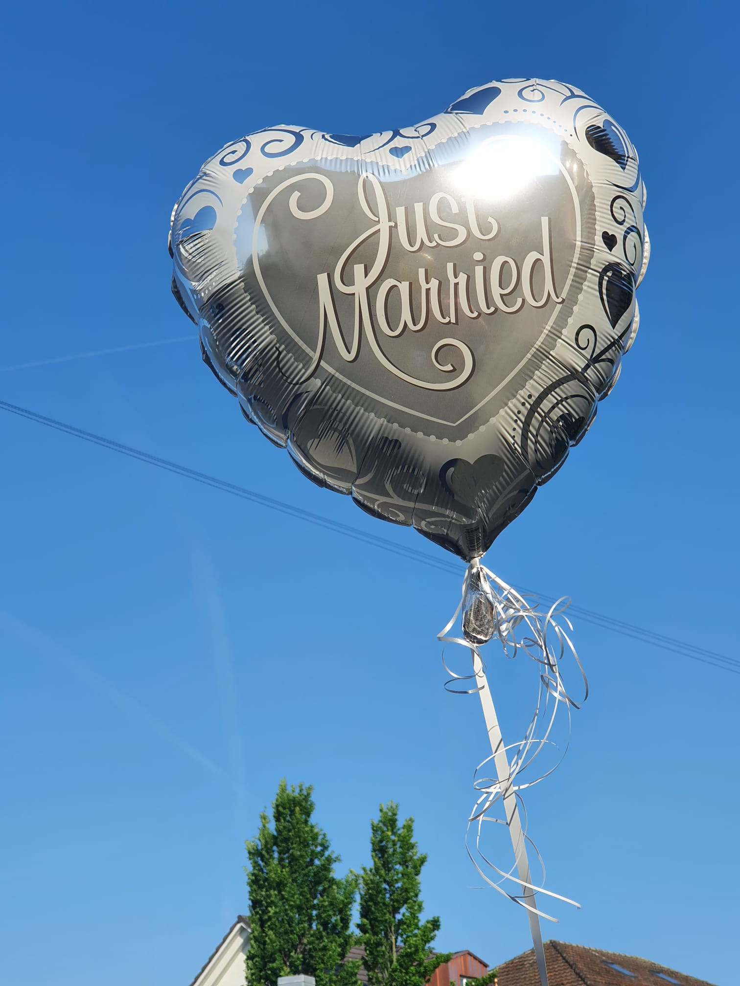 """Helium-gefüllter Folien-Ballon """"Just Married"""""""