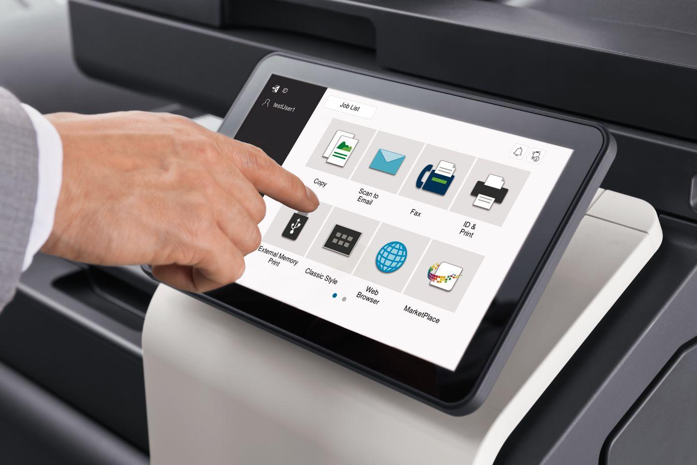 übersichtliche Bedienerführung (Touch-Screen)
