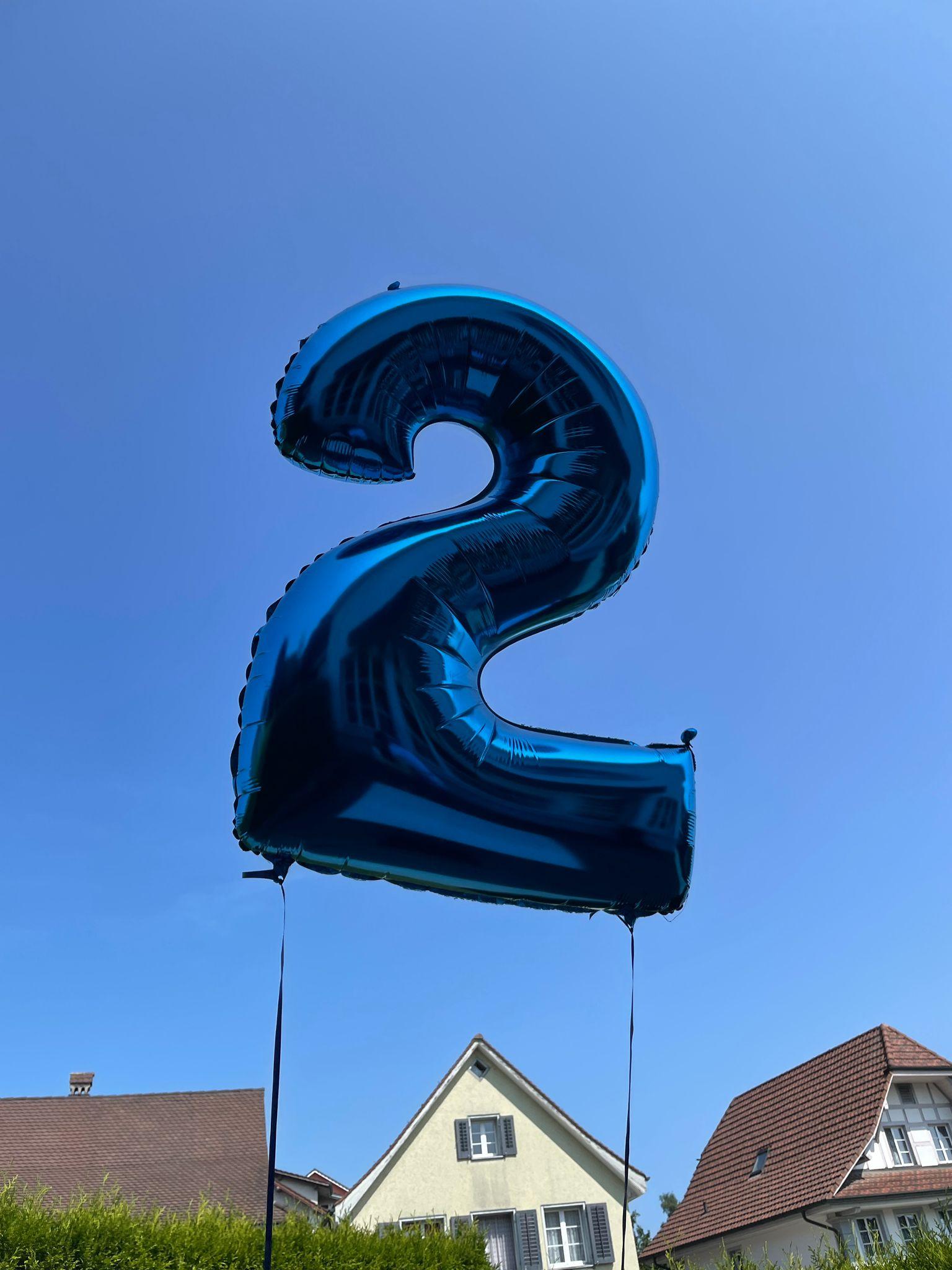 Zahlenballone, neu auch in blau