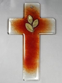 Glas-Kreuz ca. 20 cm hoch