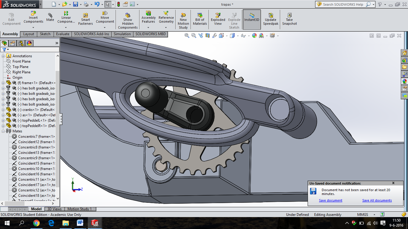 SolidWorks uitwerking: Trappers.