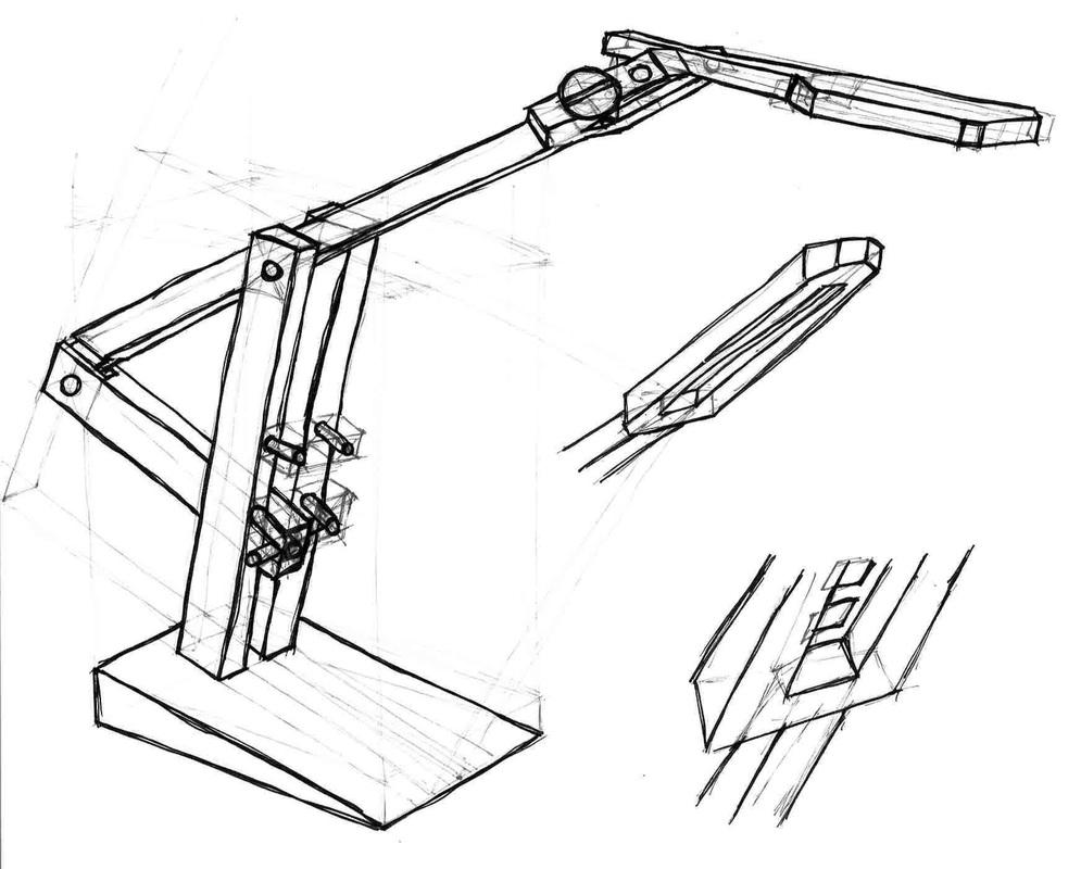 3D schets van het concept.
