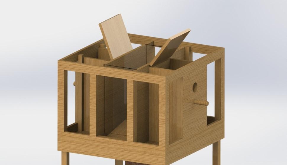 SolidWorks render - Zonder dak.