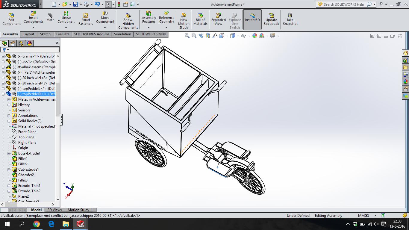SolidWorks uitwerking: Volledig voertuig.