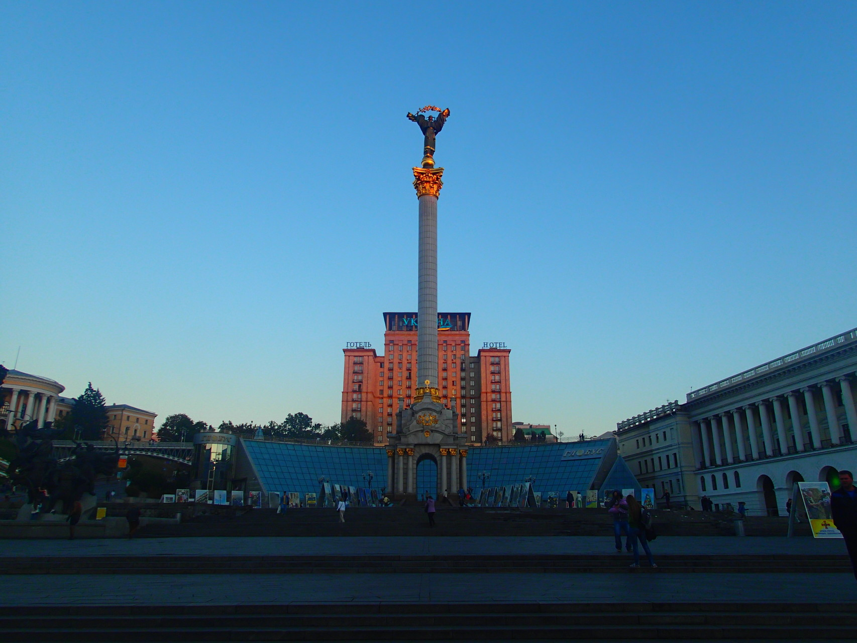 Return to Maidan Square, Kiev, Ukraine