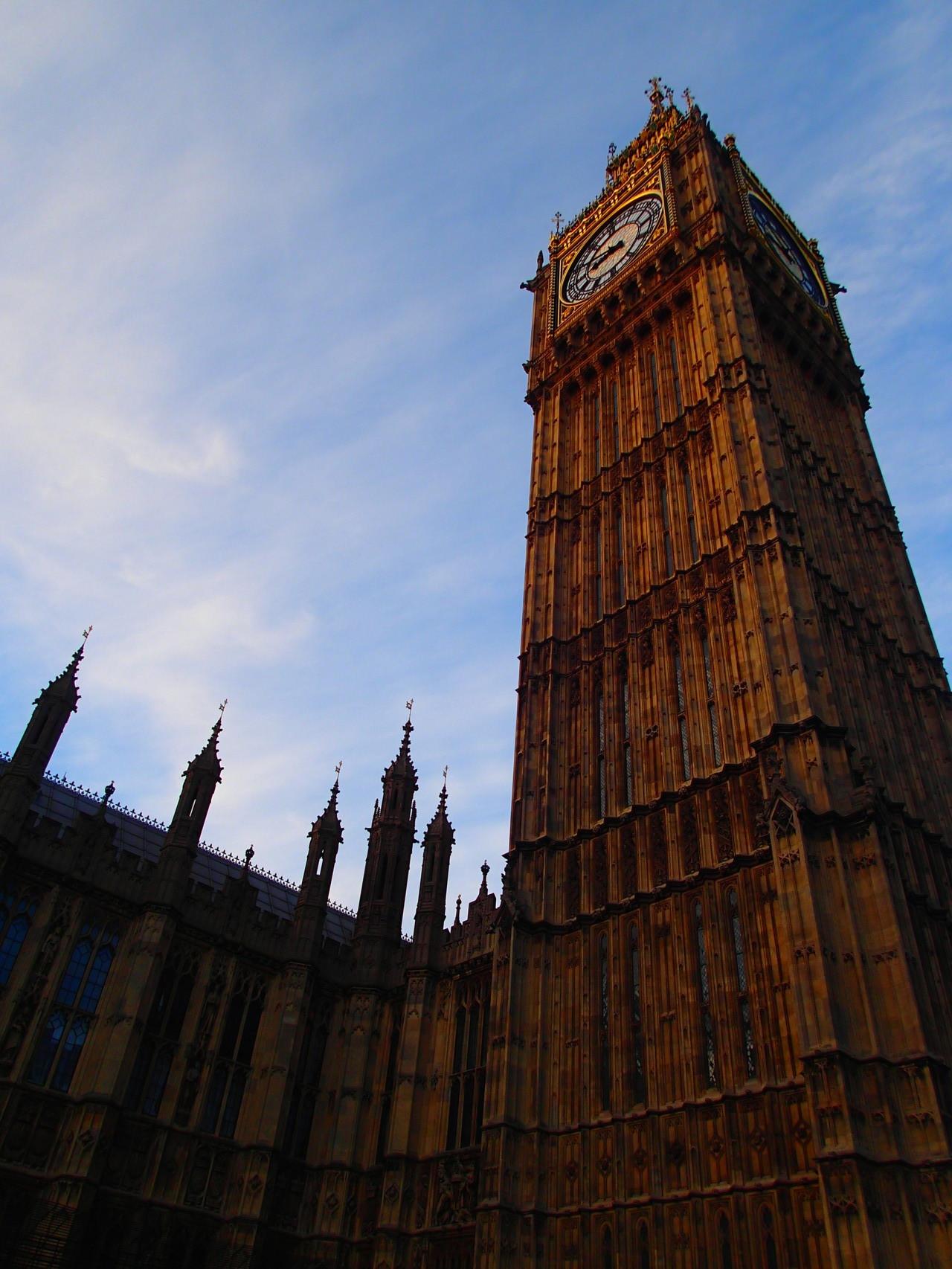 Elizabeth Tower aus nächster Nähe