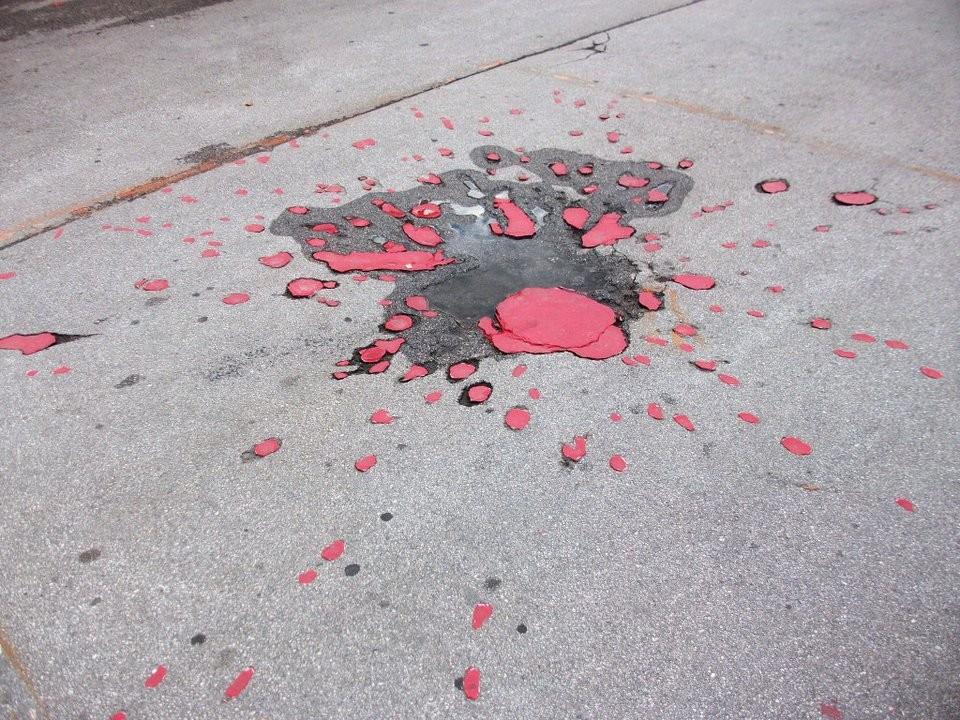"One of the ""Roses of Sarajevo"""