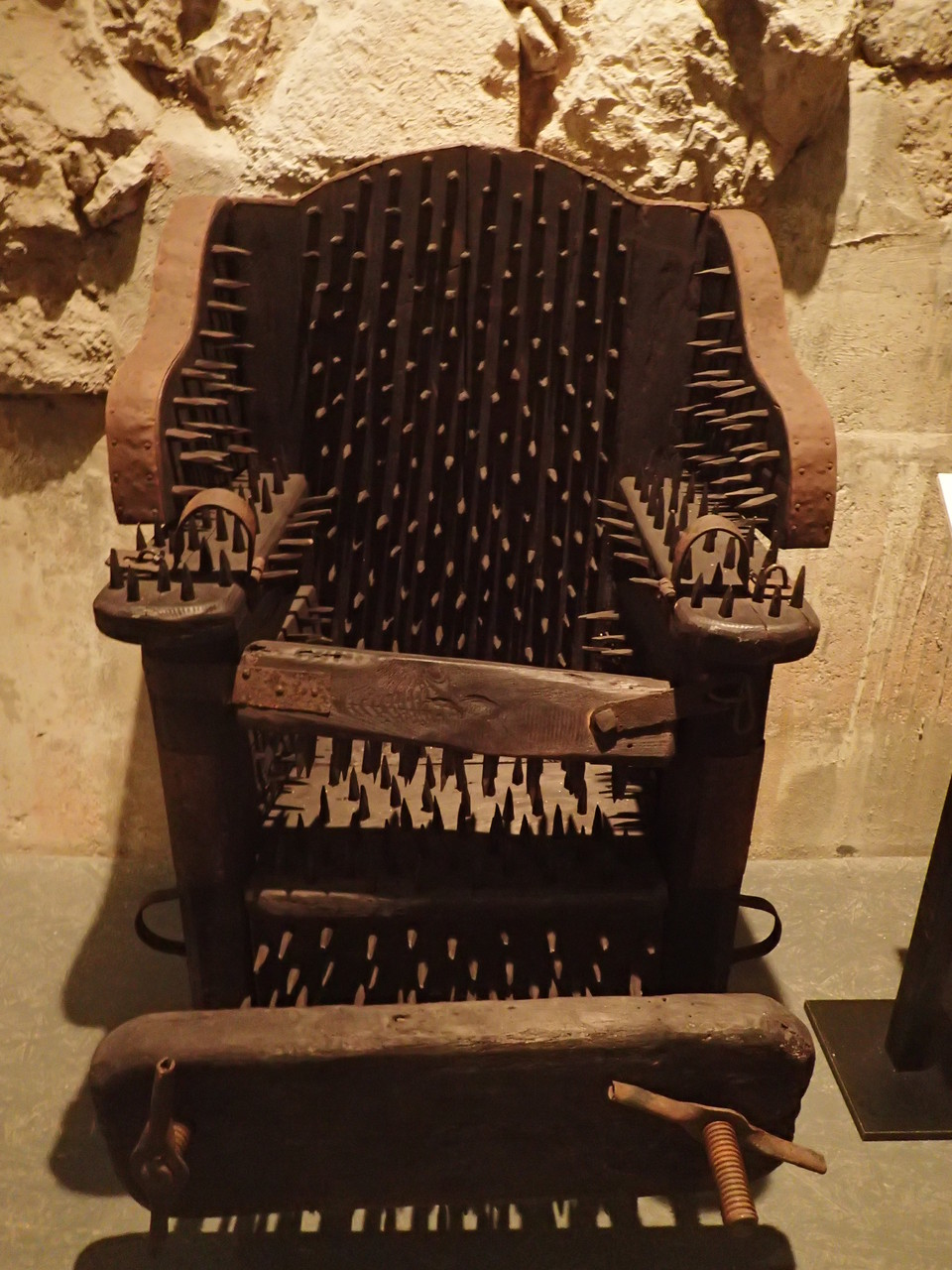 Interrogation chair at the torture museum