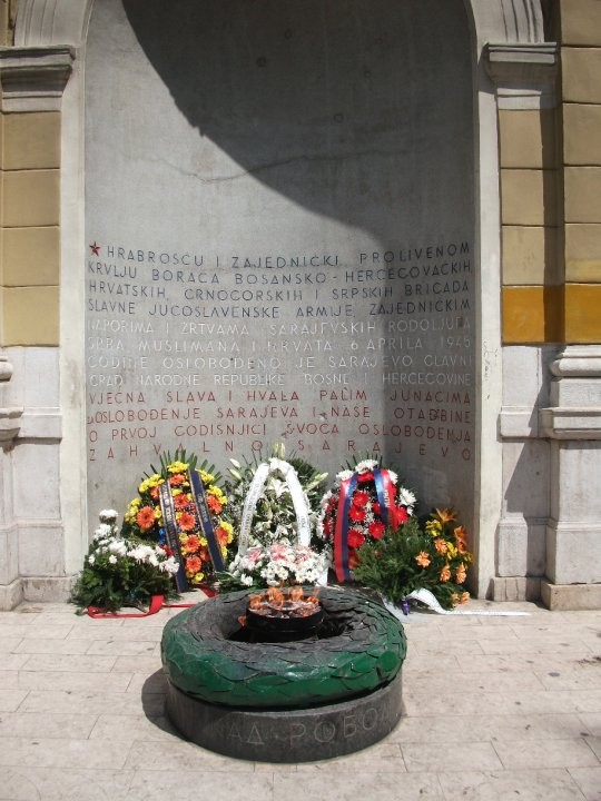 The eternal flame that symbolizes the liberation of Bosnia after being occupied by Nazi-Germany and Croatia