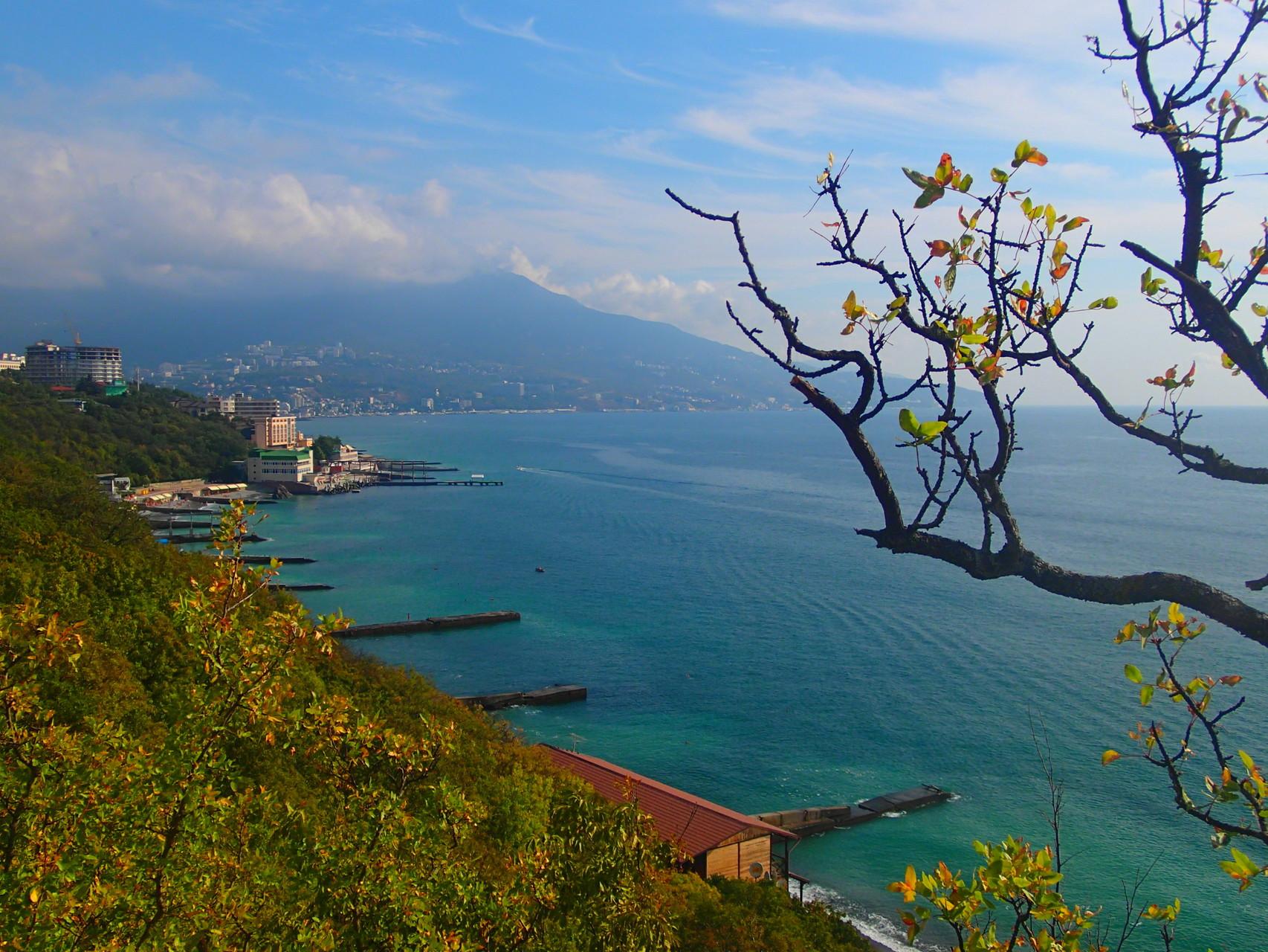 Ein schöne Aussicht auf das schwarze Meer