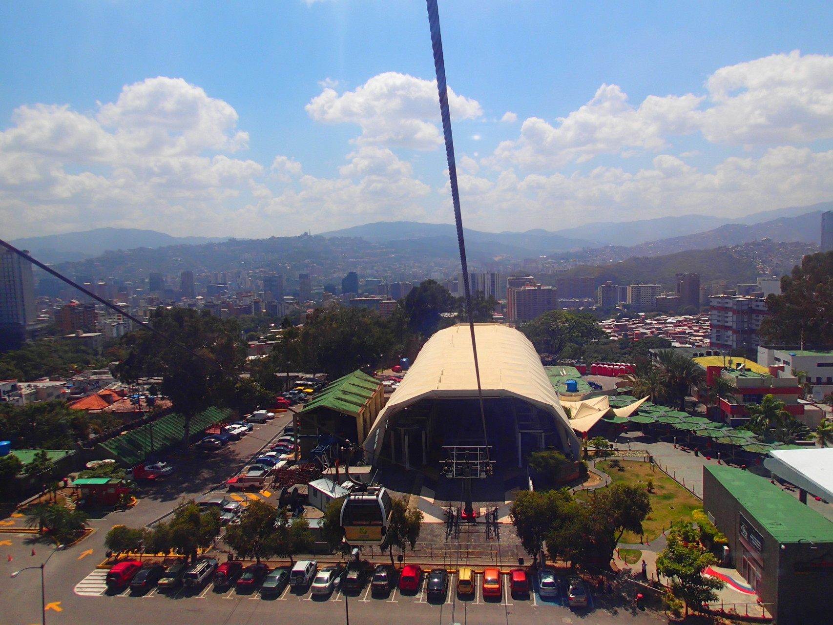 Taking the cable car (teleferico)