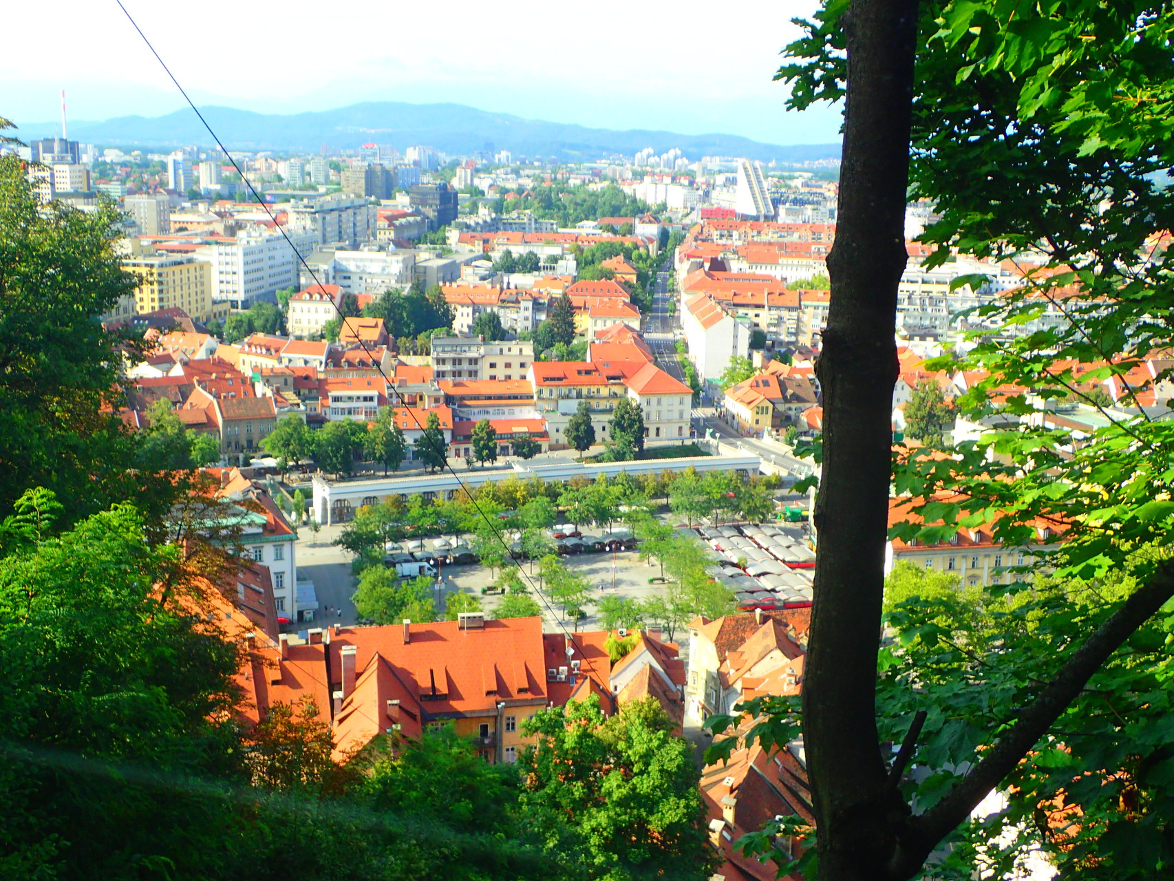 View on Ljubljana from the castle