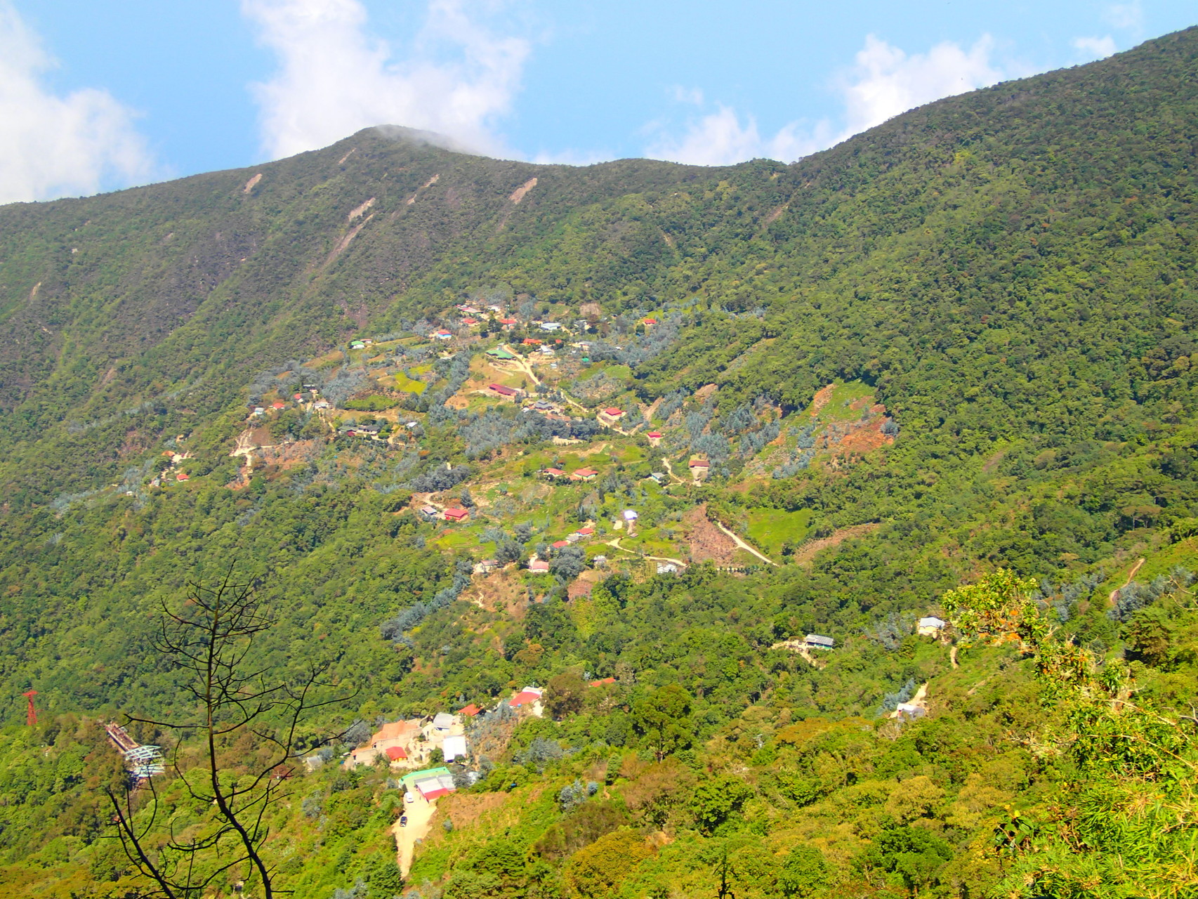 View on the picturesque town Galipan