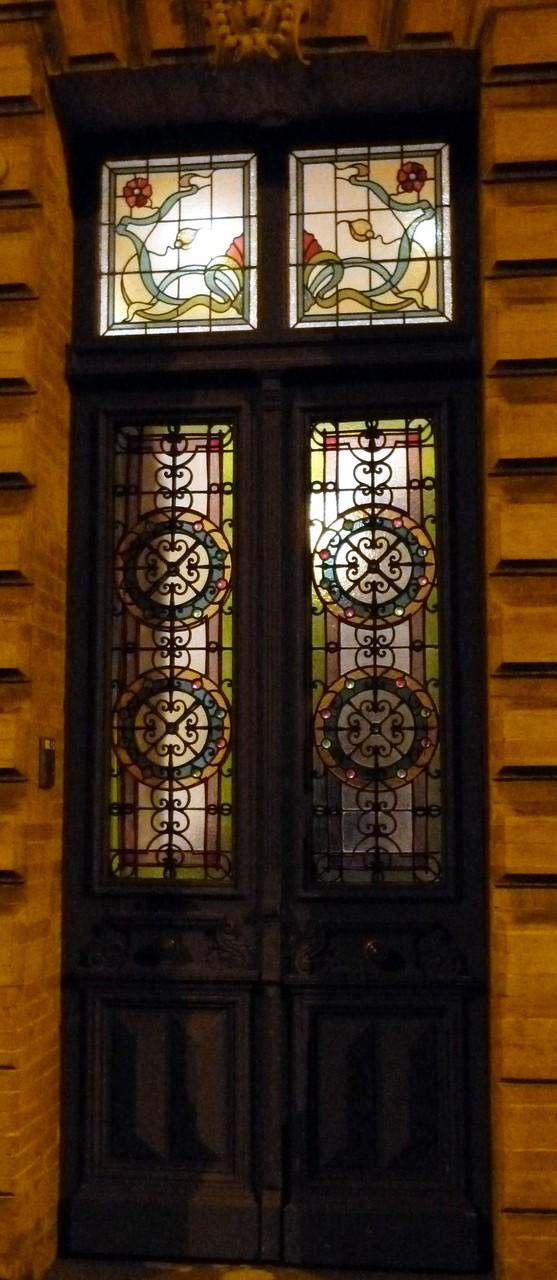 vitraux-portes-impostes - Quartier Chalets Roquelaine Toulouse